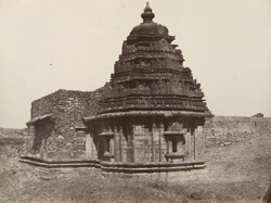 Dumbul. A temple. [Corrected caption: Temple at Lakkundi.]